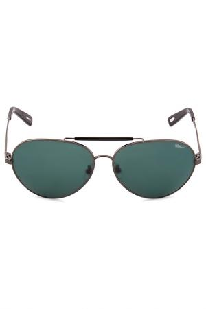 Очки солнцезащитные Chopard. Цвет: зеленый