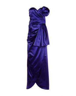 Длинное платье MOSCHINO COUTURE. Цвет: фиолетовый