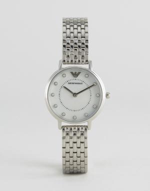 Emporio Armani Серебристые часы с сетчатым браслетом AR2511 Kappa. Цвет: серебряный