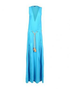 Длинное платье DSQUARED2. Цвет: небесно-голубой