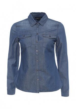 Рубашка джинсовая Armani Exchange. Цвет: синий