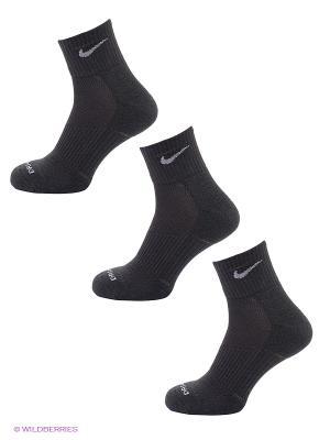 Носки U NK DRY CUSH QT 3PR, 3 пары Nike. Цвет: черный