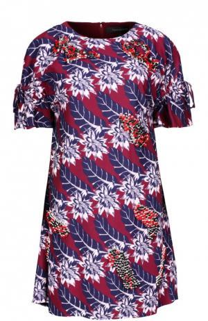 Платье Thakoon. Цвет: бордовый