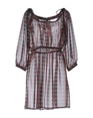 Короткое платье NORA BARTH. Цвет: красно-коричневый