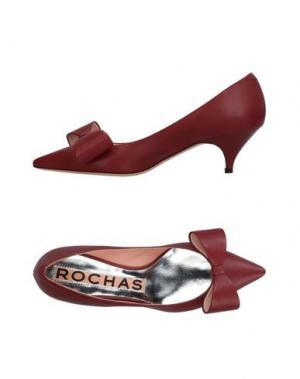 Туфли ROCHAS. Цвет: красно-коричневый