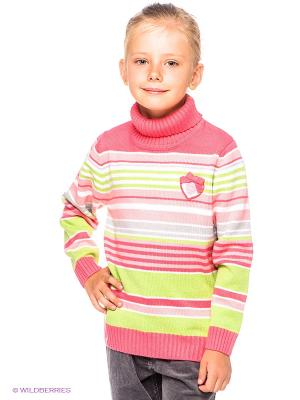 Свитер PlayToday. Цвет: салатовый, белый, бледно-розовый, коралловый, серый