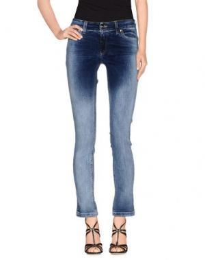 Джинсовые брюки H²O LUXURY. Цвет: синий