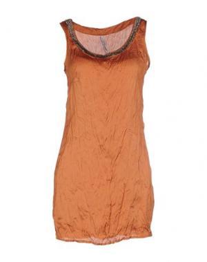 Короткое платье EMMA&GAIA. Цвет: коричневый