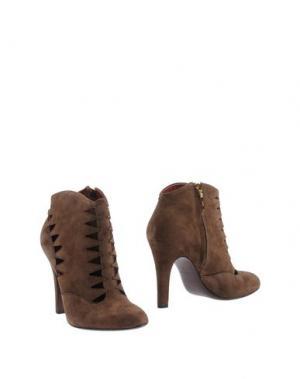 Полусапоги и высокие ботинки AERIN. Цвет: темно-коричневый