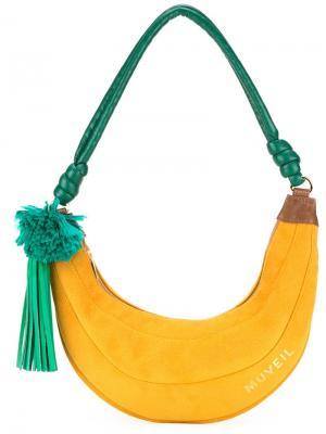 Сумка на плечо в виде банана Muveil. Цвет: жёлтый и оранжевый
