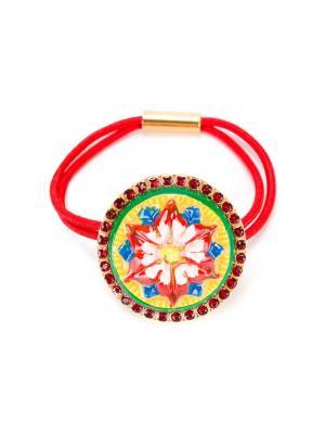 Ободок с узором Mambo Dolce & Gabbana Kids. Цвет: красный