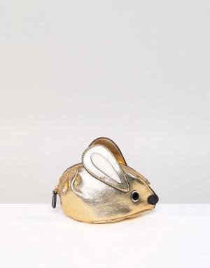 Essentiel Antwerp Кошелек для монет в виде мыши. Цвет: золотой