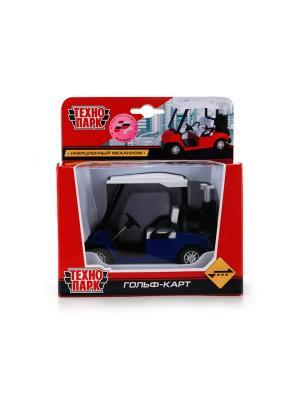 Машина Технопарк металлический, инерционный Гольф-Кар.. Цвет: синий, белый