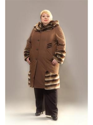 Пальто Trevery. Цвет: коричневый, темно-коричневый