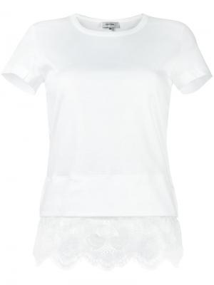 Блузка с кружевной отделкой Carven. Цвет: белый