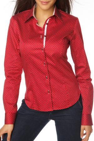 Рубашка GAZOIL. Цвет: красный