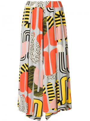 Укороченные брюки Tommy Henrik Vibskov. Цвет: многоцветный