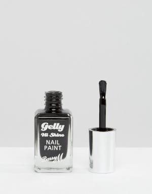 Barry M Лак для ногтей с гелевым эффектом. Цвет: черный