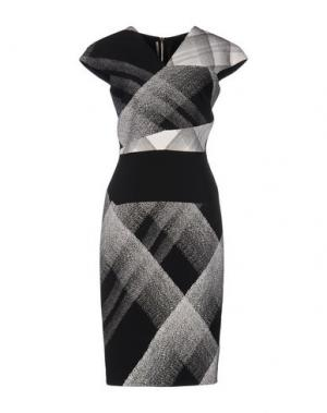 Платье до колена ROLAND MOURET. Цвет: черный