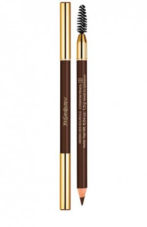 Карандаш для бровей №2 Dark Brown YSL. Цвет: бесцветный
