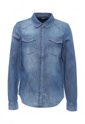 Рубашка джинсовая Only. Цвет: синий