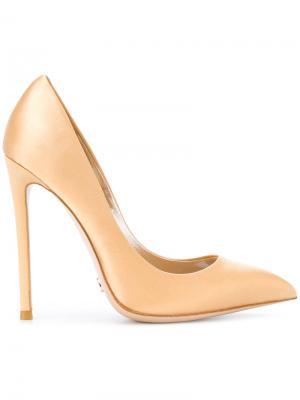 Туфли-лодочки с заостренным носком Gianni Renzi. Цвет: телесный