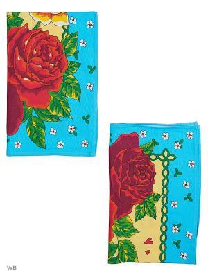 Набор полотенец празничных Римейн. Цвет: голубой, желтый