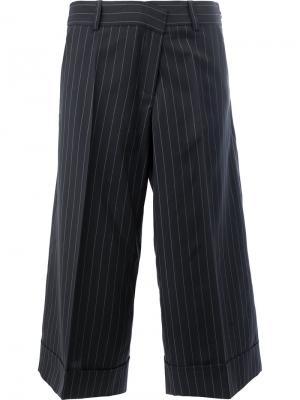 Укороченные брюки в полоску Monse. Цвет: синий