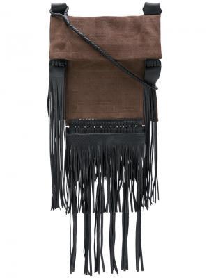 Большая сумка Saharienne Saint Laurent. Цвет: коричневый