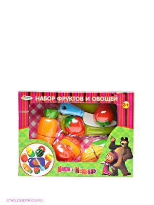 Набор фруктов и овощей Играем вместе. Цвет: зеленый, фуксия