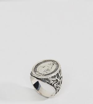 Rock 'N' Rose Серебряное кольцо-печатка N. Цвет: серебряный