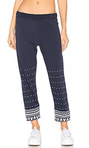 Длинные спортивные брюки gia Lauren Moshi. Цвет: синий