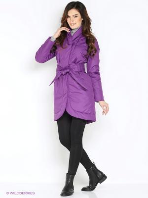 Пальто Анна Чапман. Цвет: фиолетовый