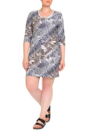 Платье домашнее Лейла LAVELLE. Цвет: серый
