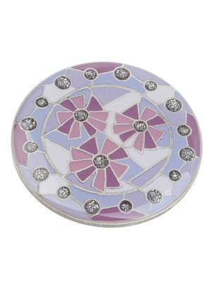 Брошь Clara Bijoux. Цвет: фиолетовый, розовый, сиреневый
