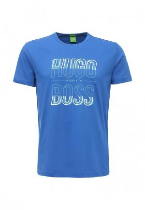 Футболка Boss Green. Цвет: синий