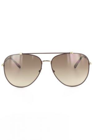 Очки солнцезащитные DVF. Цвет: коричневый