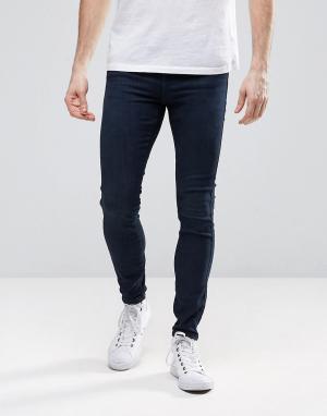 Dr Denim Супероблегающие джинсы из органического хлопка Dixy. Цвет: синий
