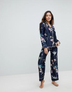 Ted Baker Пижамные штаны с принтом в восточном стиле B By. Цвет: синий