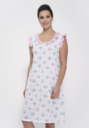 Сорочка ночная Cleo. Цвет: белый