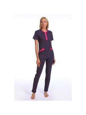 Пижама SOFT SECRET. Цвет: темно-синий