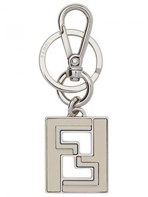 Брелок для ключей с логотипом Fendi. Цвет: металлический