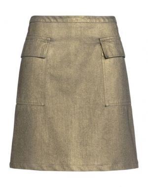 Джинсовая юбка TOMAS MAIER. Цвет: золотистый