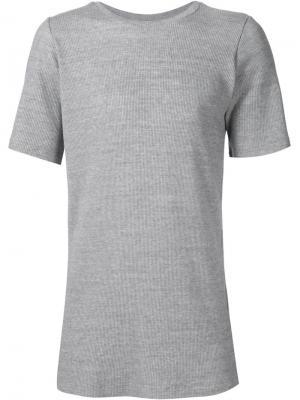 Ребристая футболка Judson Harmon. Цвет: серый