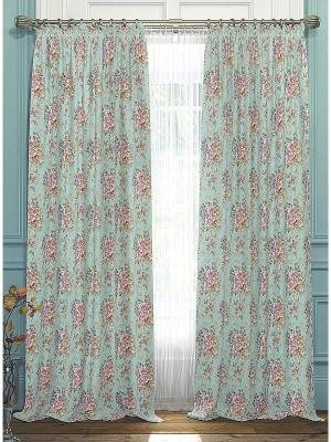 Комплект  штор Цайли ТОМДОМ. Цвет: зеленый, голубой, розовый, синий