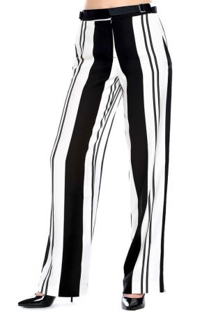 Брюки Emma Monti. Цвет: black, white stripes
