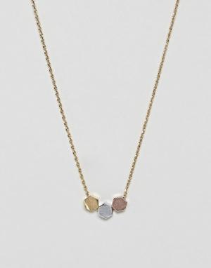 Orelia Ожерелье с подвесками. Цвет: золотой