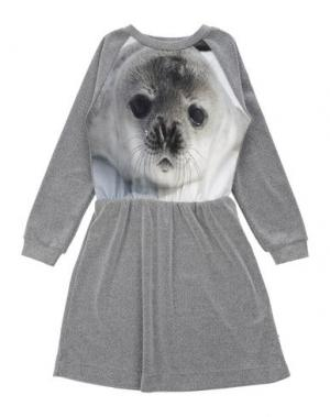 Платье POPUPSHOP. Цвет: серый