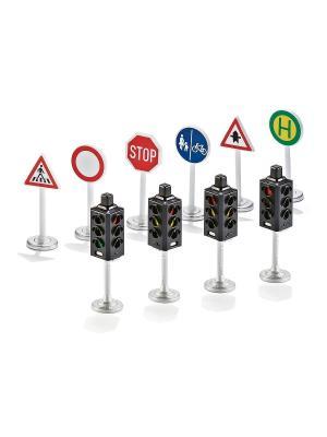Серия SIKU WORLD Набор Светофоры и дорожные знаки. Цвет: синий, серебристый