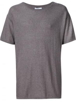 Трикотажная футболка 321. Цвет: коричневый